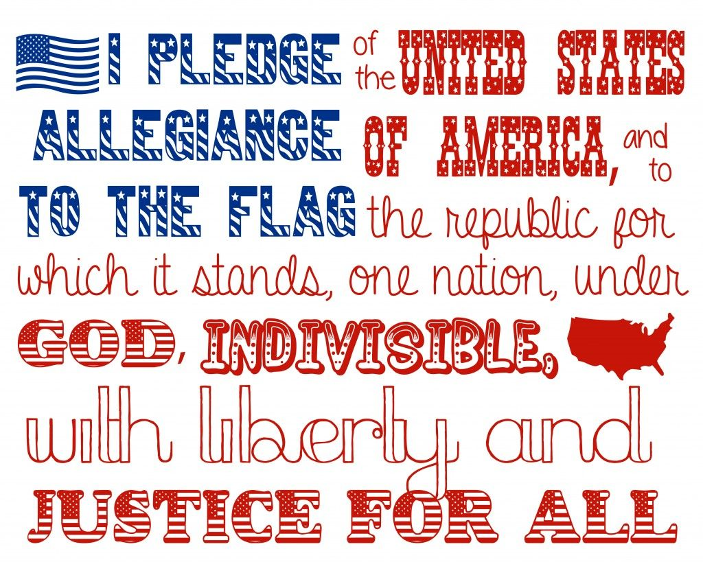 4th Of July Printable Pledge Of Allegiance
