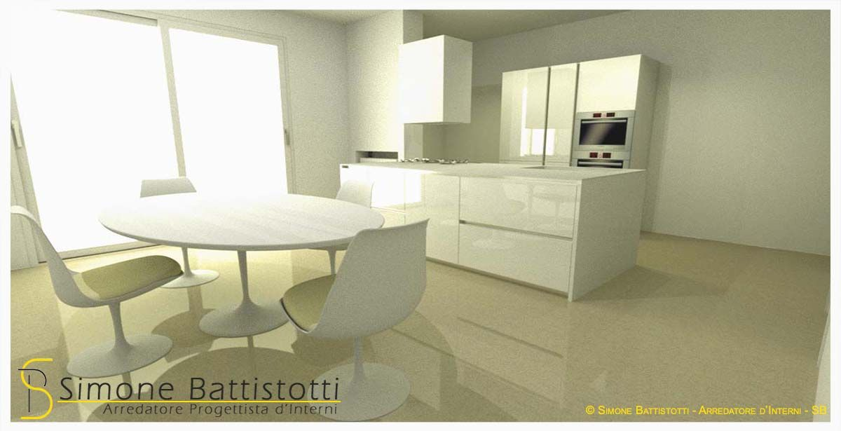 Progetto cucina con isola e tavolo rotondo | Cucine ...