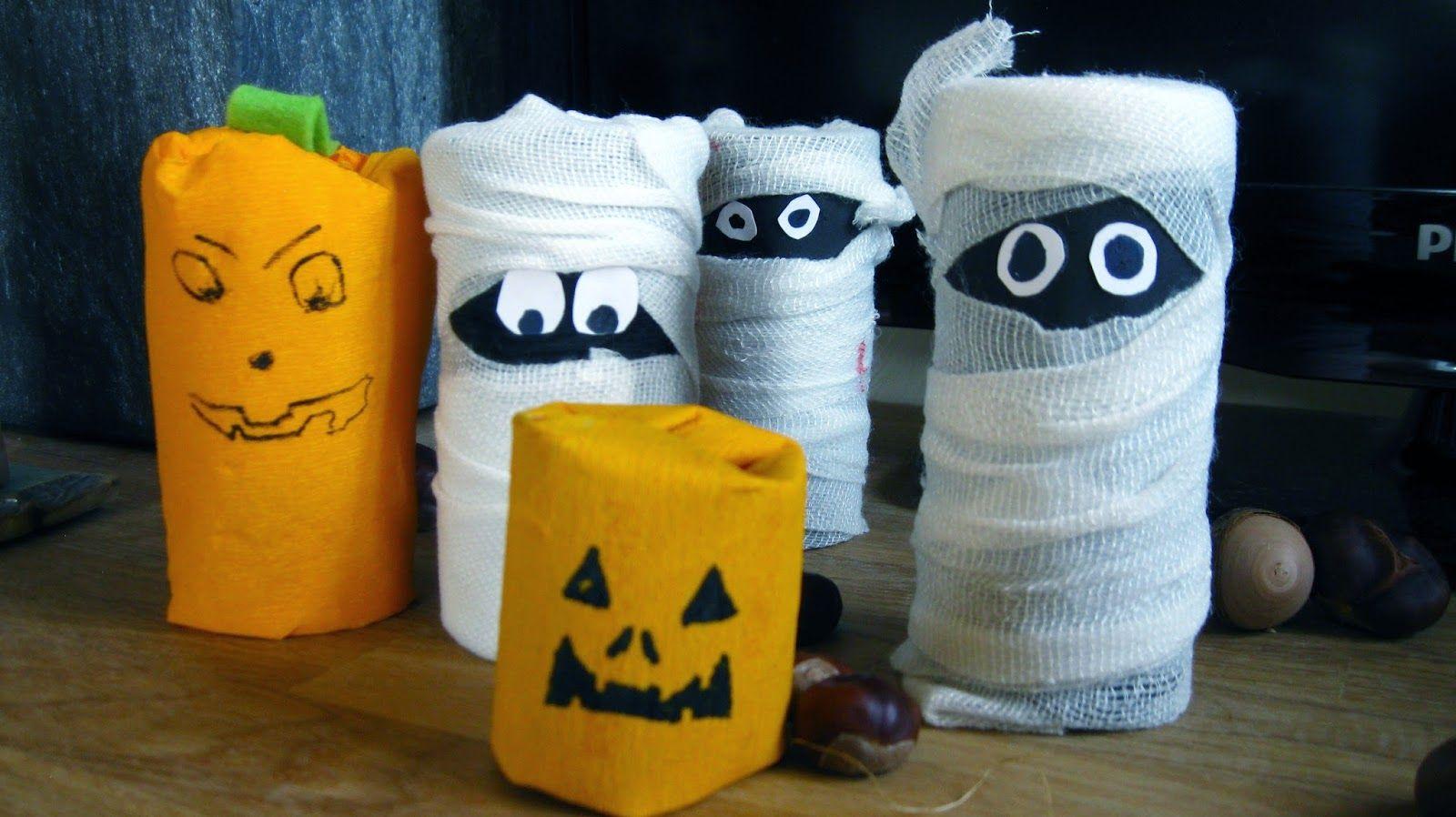 basteln f r halloween mit kindern aus klopapierrollen kinder pinterest basteln f r. Black Bedroom Furniture Sets. Home Design Ideas
