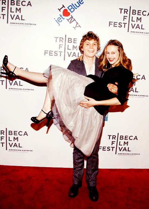 Taissa Farmiga and Evan Peters of American Horror Story