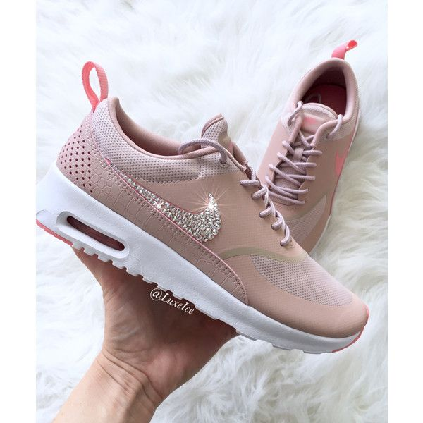 sports shoes f7735 6e4c3 Zapatos Brillantes · Zapatos De Colores · Nike Air Max Thea Pink  oxford bright melon white Blinged With.