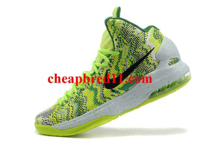 Nike KD V Christmas Volt LawnGreen White Black  ad4bc9e9e5