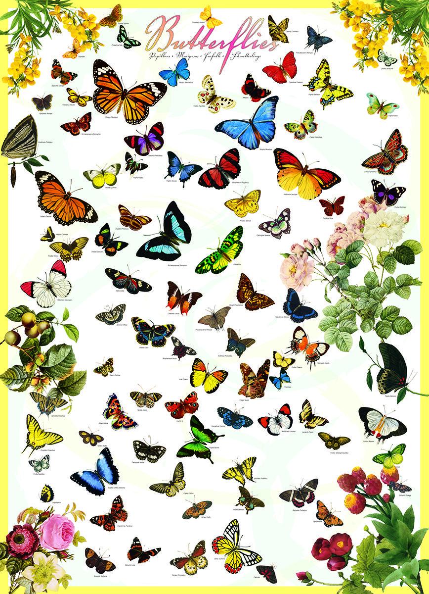 eurographics butterflies 1000 piece puzzle delicate colourful