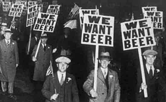 The Prohibition Banned All Production And Consumption Of Alcohol In The Us Although Well Intended The Act Gave Rise To Many Illegal Beer Prohibition History
