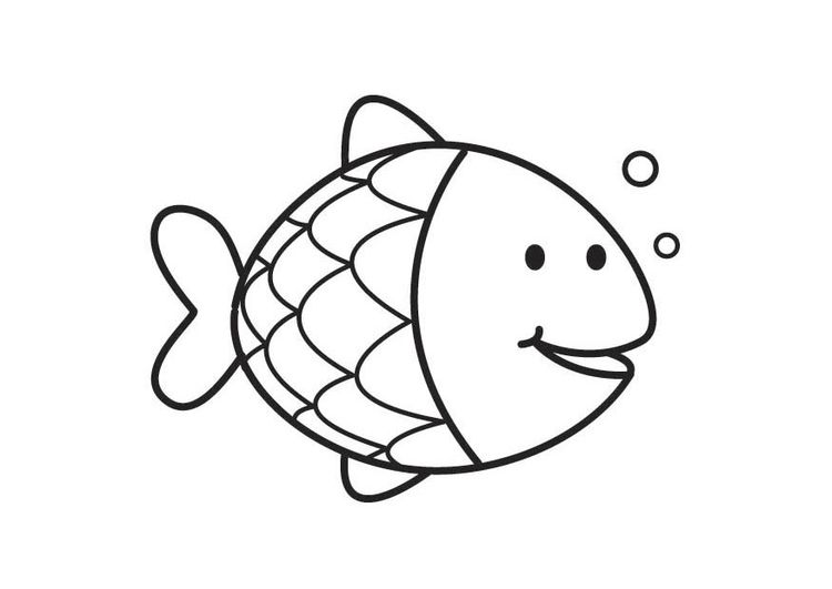 Coloring page Fish | Line Drawings | Pinterest | Strichzeichnung ...