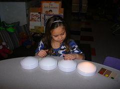 Phonemic Awareness Activities - Students say the sounds in a word as they turn the lights on, one light for each sound.