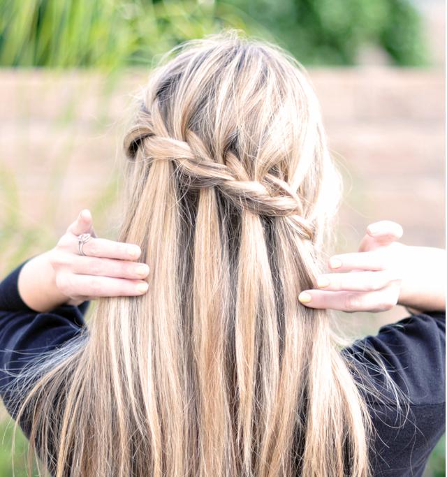 French Braid W Cascading Hair Tutorial Diy Waterfall Braid Pretty Hairstyles Long Hair Styles Hair