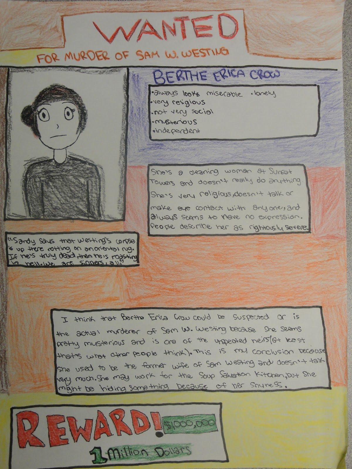 westing game wanted posters