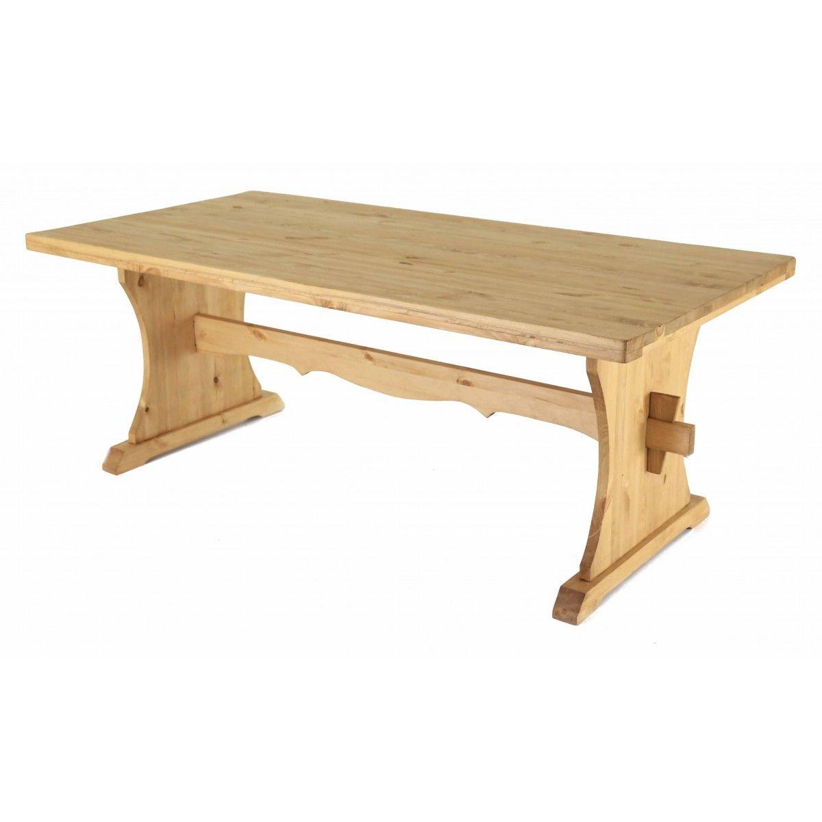 table monastere pin massif 200 x 90 cm