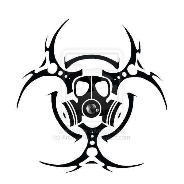 Bio Hazard Gasmask By Arcane Free Images At Clker Com Vector Clip Biohazard Tattoo Skulls Drawing Gas Mask Art