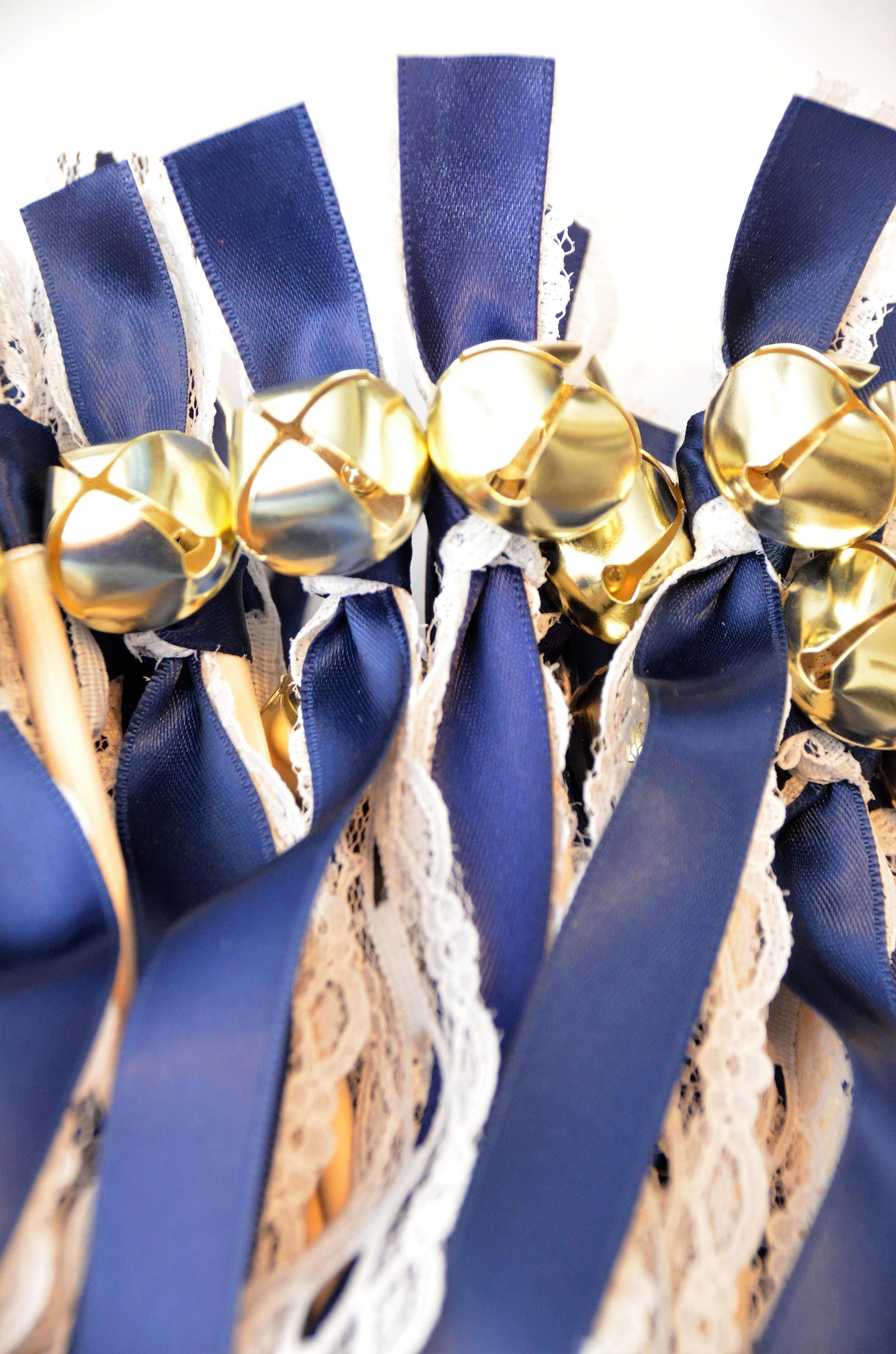 50 Lace Single Ribbon Bell Wands Divinity Braid Send