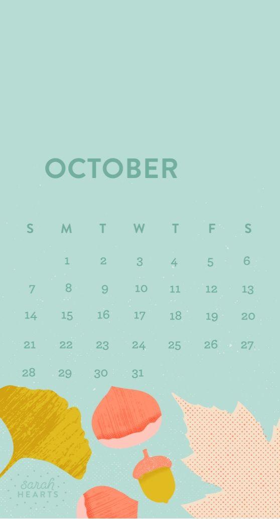 Free October 2018 iPhone Calendar Wallpapers   tech.   Pinterest   Calendar wallpaper and Wallpaper