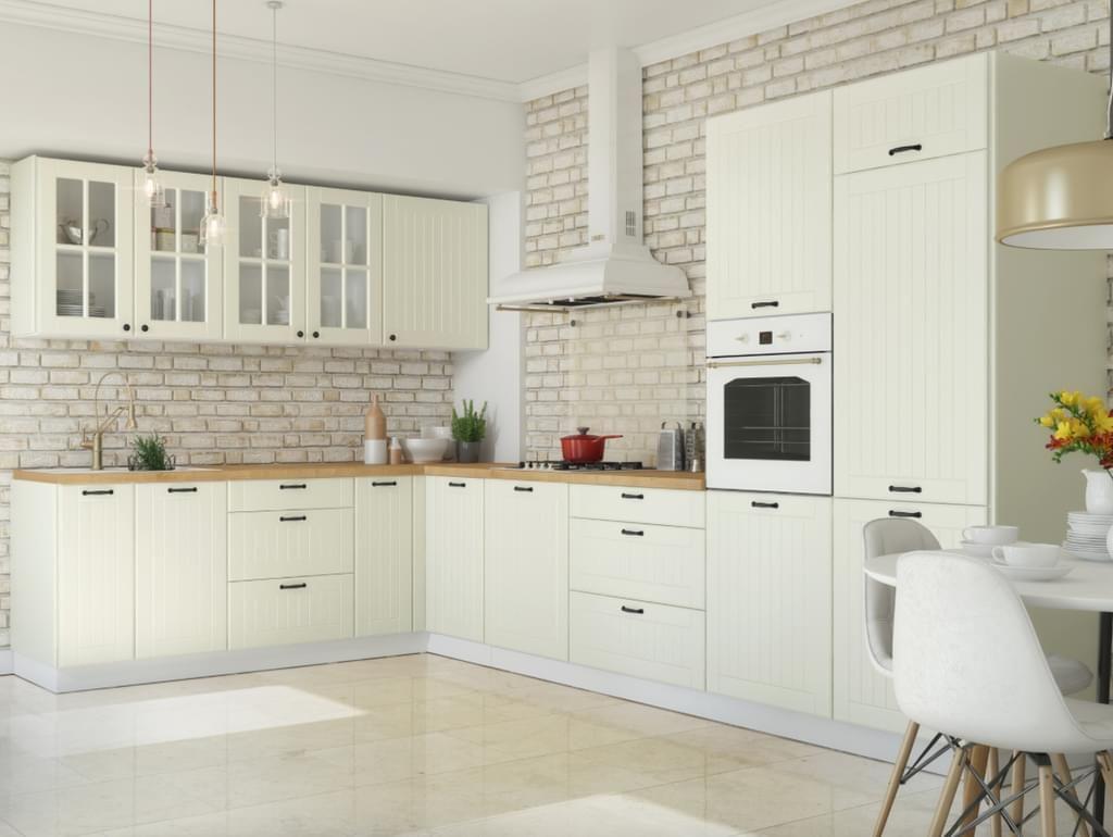 Küche Landhaus Küchenzeile Eckküche Küchenblock mit