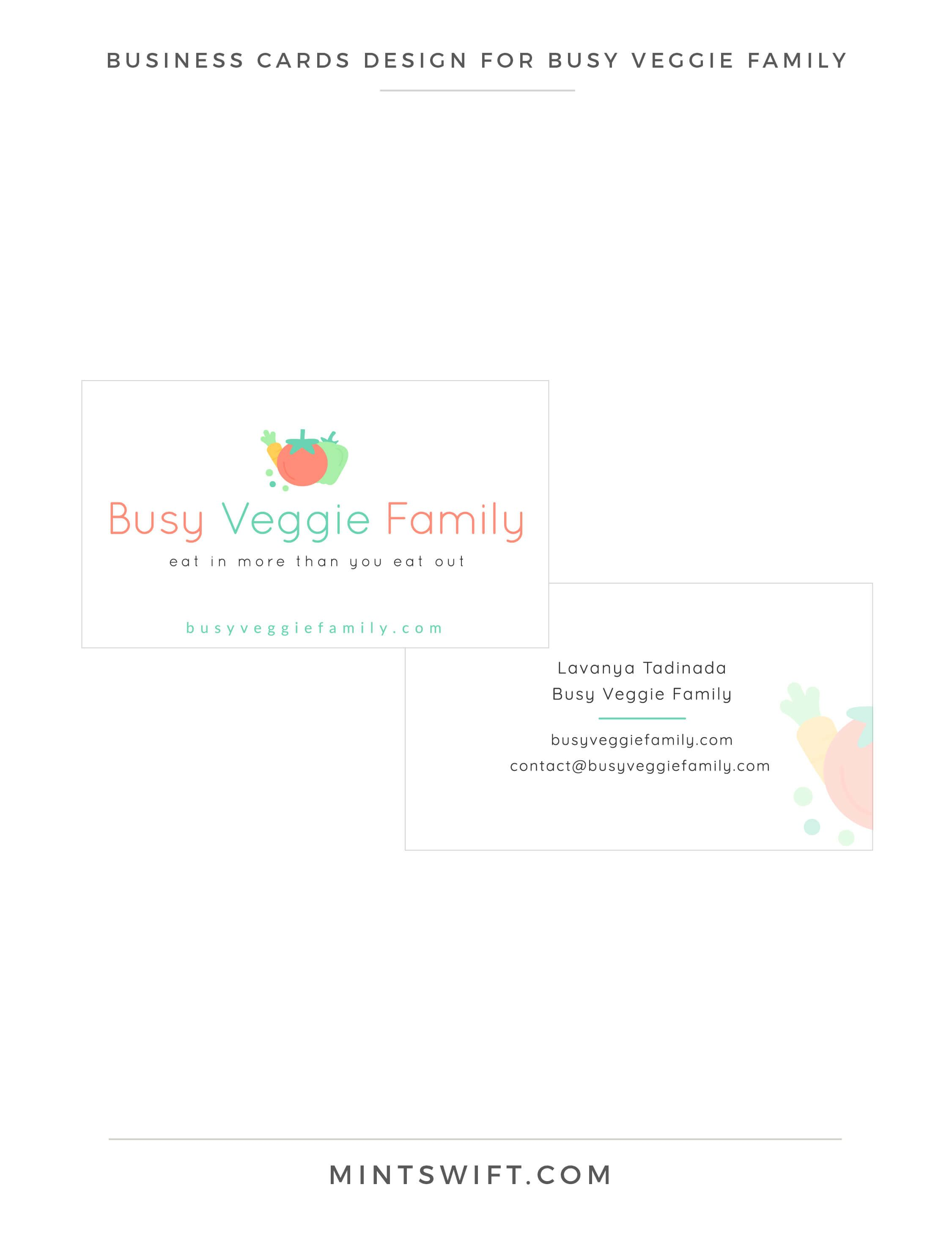 Brand & Website Design for Busy Veggie Family Pinterest