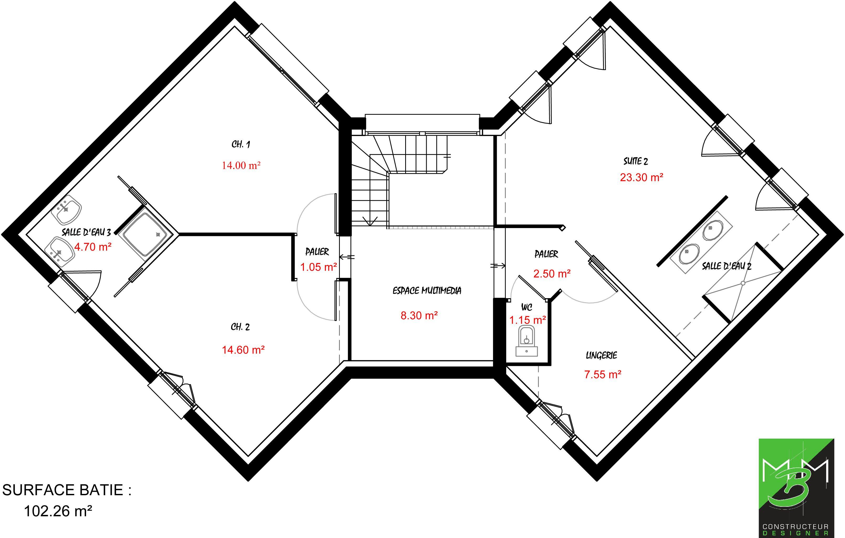 Epingle Sur Plan Duplex