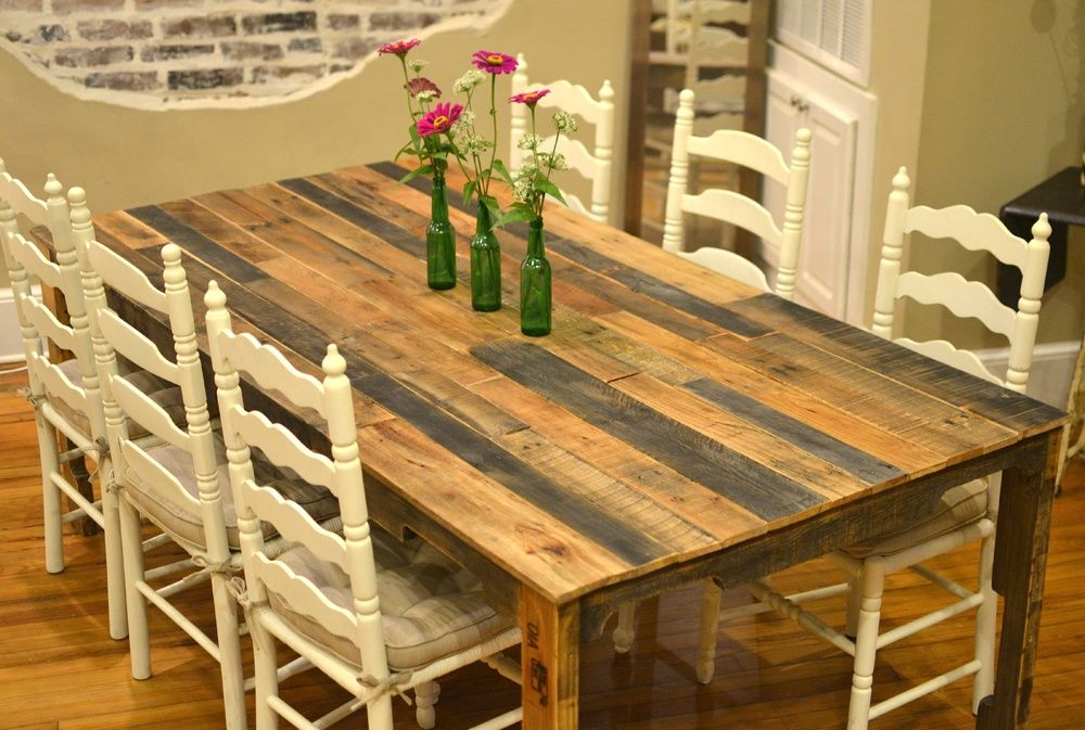 Italian Farm Dining Room Table And Colorful Retro Chairs The Best Wood Furniture