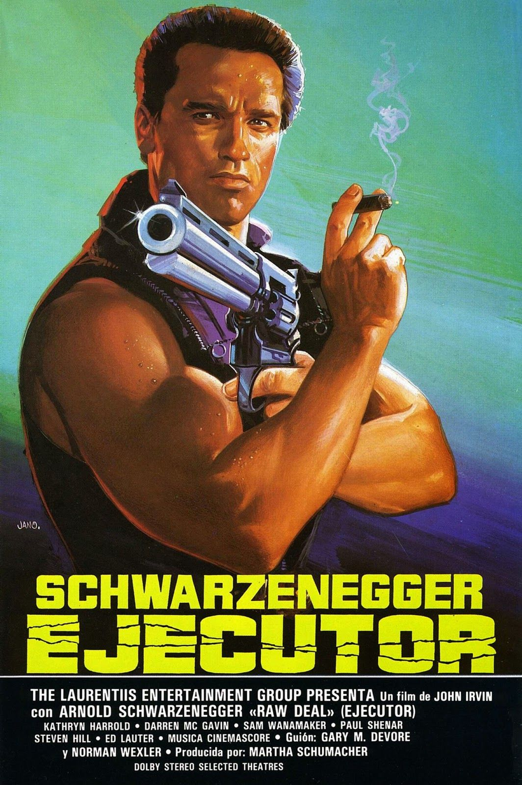 RAW DEAL 1986 Arnold Schwarzenegger.