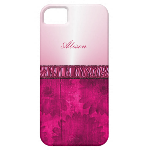 A favorite with the girls this pretty pink floral ribbon design and so easy to personalize with a name or monogram. If you want to change the text size/color that's not a problem; just click on customize for full control at no extra cost.
