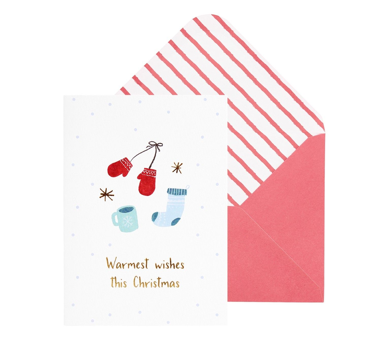 A6 GREETING CARD WARMEST WISHES JOY