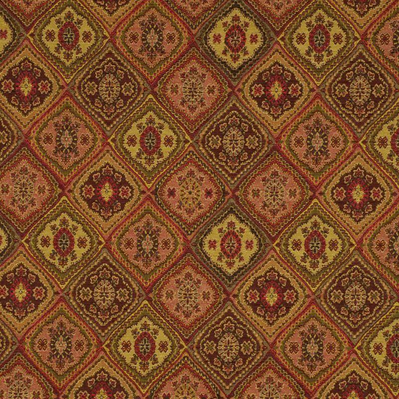 Robert Allen Fabric 124982 Copley Square Vermillion