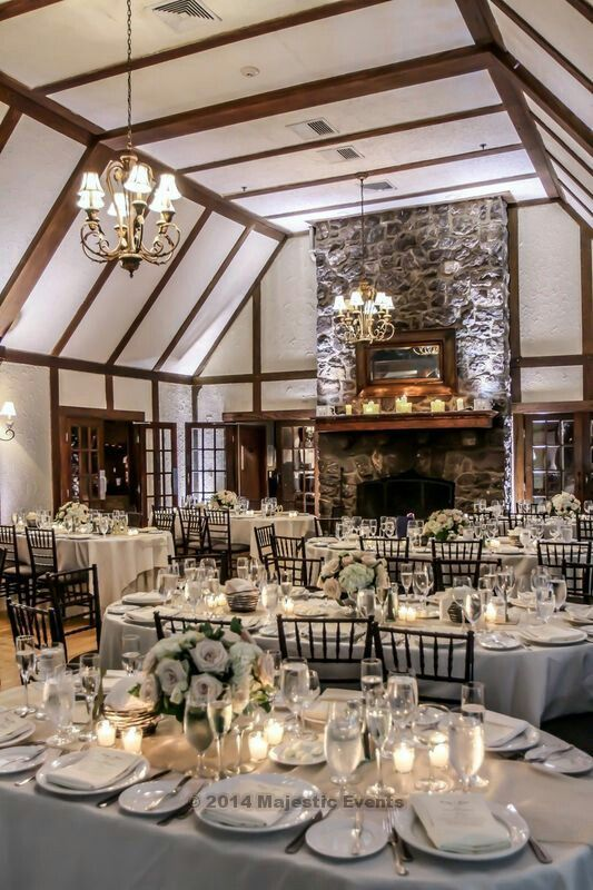 Lake Valhalla Club Montville New Jersey Wedding Weddingvenues Rustic Glam Formal Gold Champagne Table Settings Table Decorations Reception Decorations