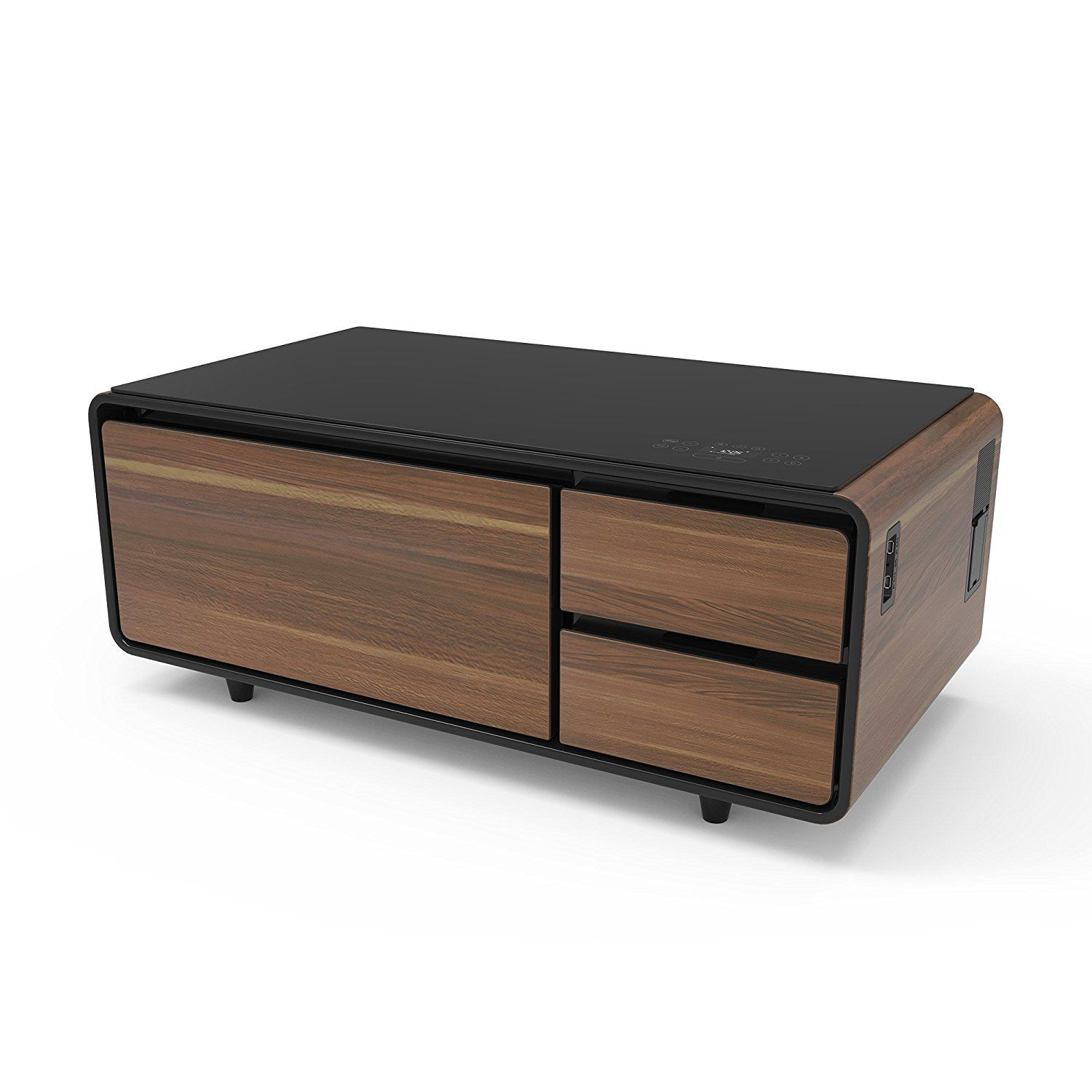 Coffee Table with Refrigerator Coffee table with storage
