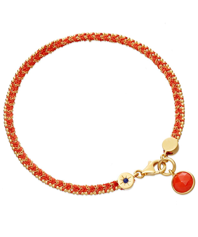 Coral Rebel Rebel Bowie Woven Bracelet, Astley Clarke.