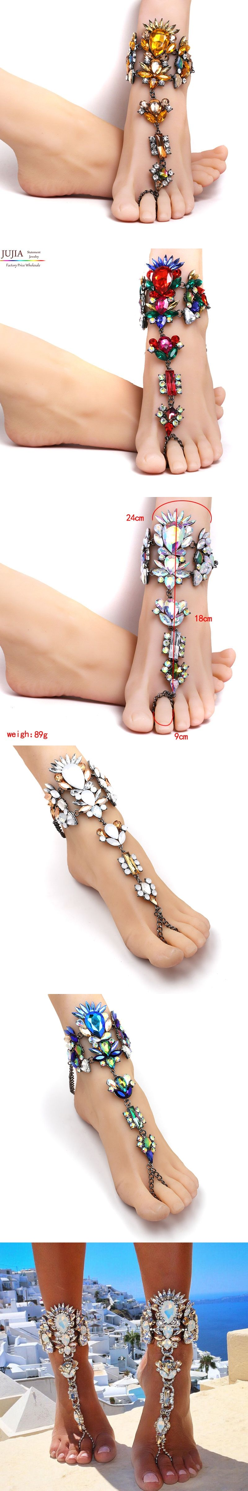 for foot female crochet bracelets jewelry women leg on chain sandals from anklet item liuyuwei new barefoot anklets ankle in