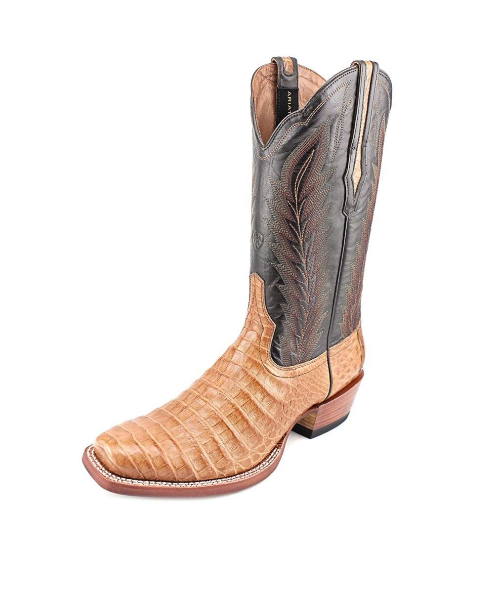 4b39bacf313 ARIAT Ariat Turnback Caiman 2E Square Toe Leather Western Boot ...