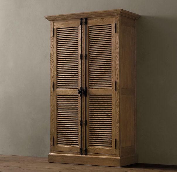 Shutter Cabinets | Wood Shelving & Cabinets | Restoration Hardware ...
