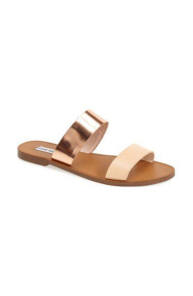 4e9b193dd31914 Steve Madden  D-Band  Leather Slide Sandal (Women)