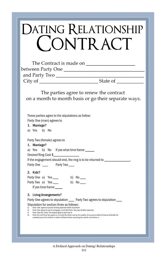 Boyfriend contract google search print outs pinterest for Love contract template