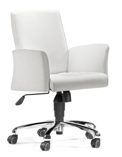 Zuo Metro Office Chair White Photo 01 With Images White Desk