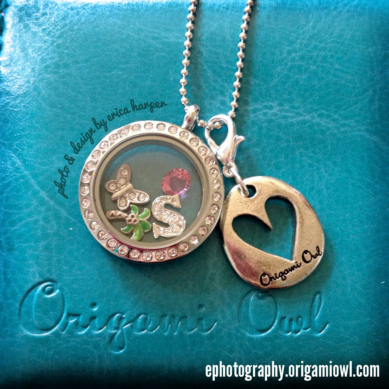 Origami Owl - Medium Silver Locket with Crystals