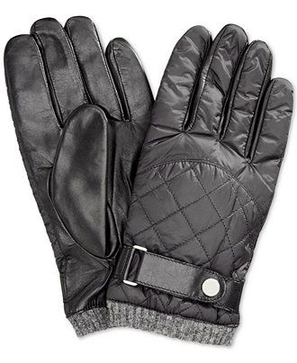 Polo Ralph Lauren Quilted Nylon Field Gloves - Hats, Gloves   Scarves - Men  - Macy s 941672f7198