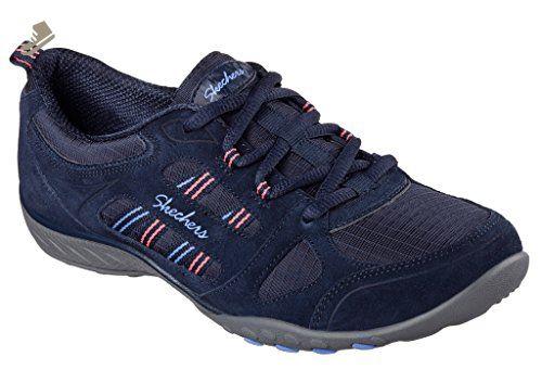 SKECHERS Graceful Navy Blue Women/'s Athletic Sneakers Memory Foam Shoes 12615