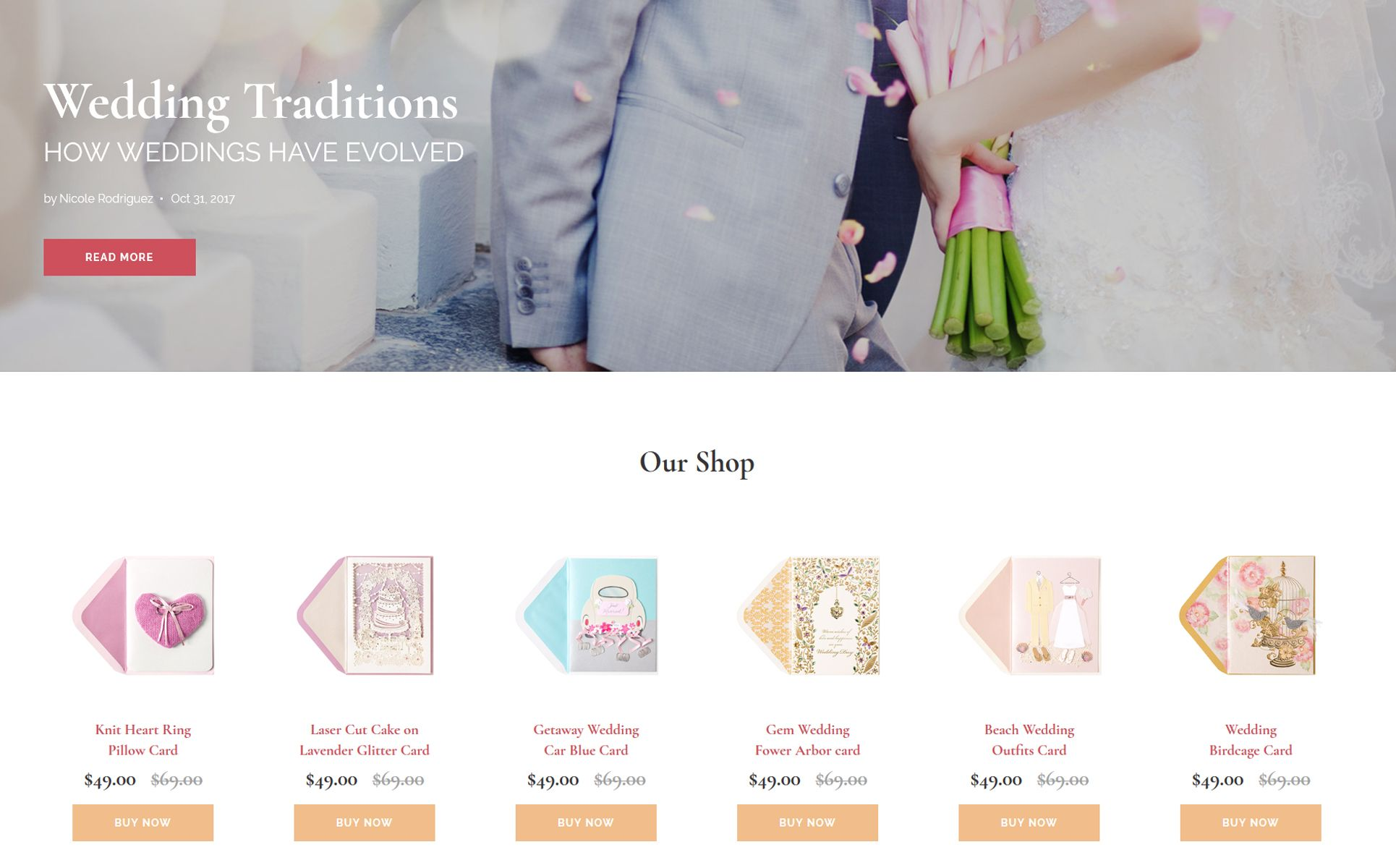 Brides Wedding Magazine Multipurpose HTML Website Template