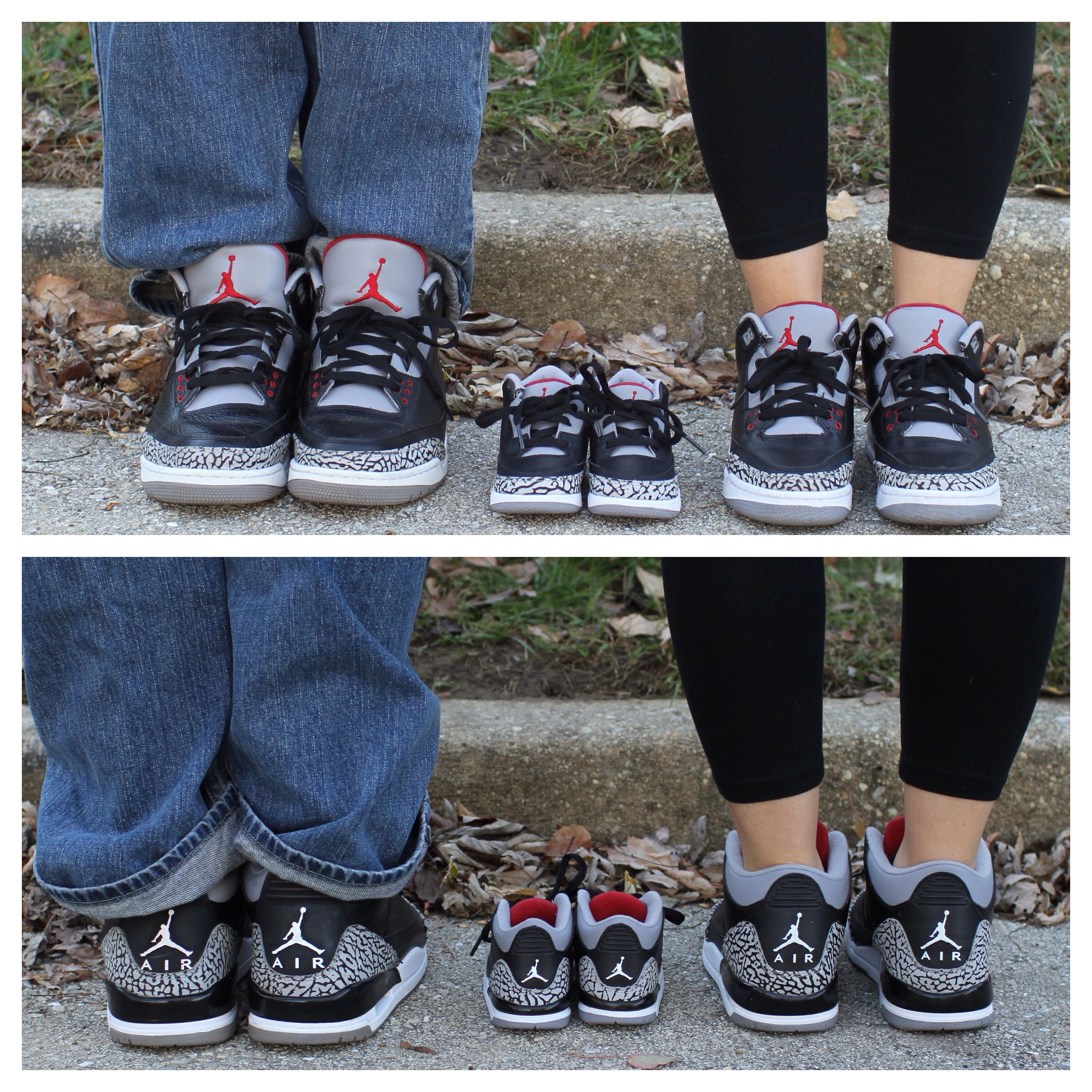 uk availability e6f9b e097a Baby announcement with matching Jordan shoes.