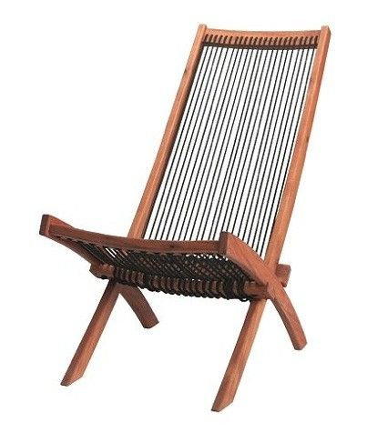 Furniture Outdoor Folding Rope and Wood Chair