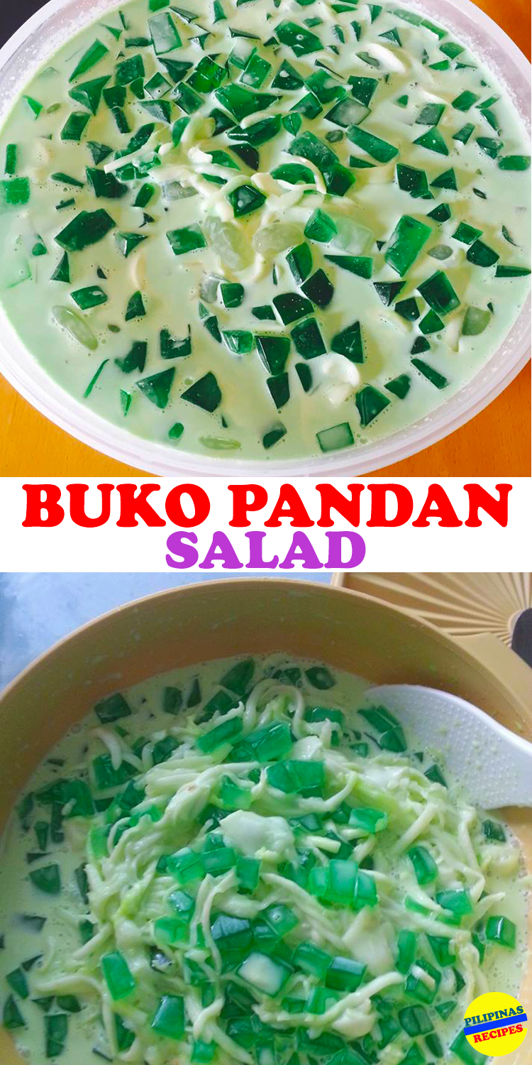 """There are three main ingredients in making Buko Pandan Salad. One is """"Buko"""" also known as young coconut meat. Also the Pandan and the Gulaman."""