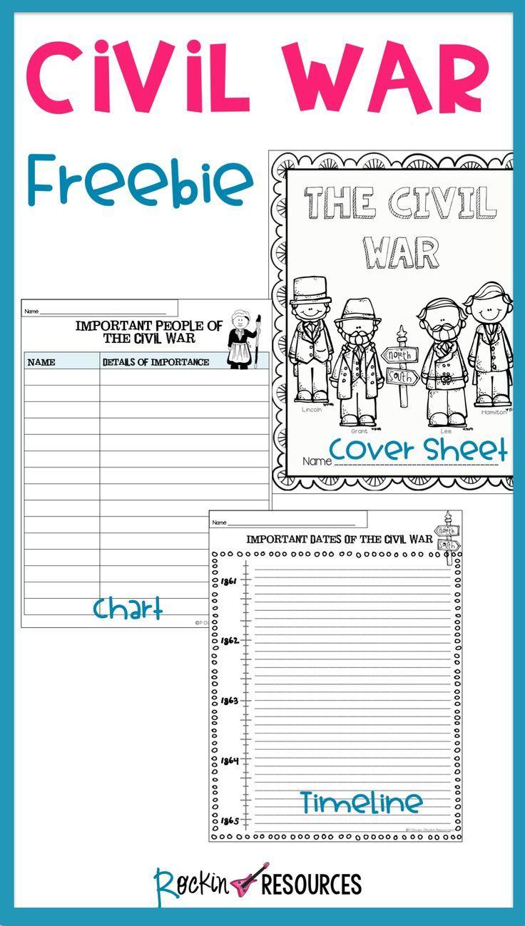 worksheet Civil War Timeline Worksheet civil war timeline cover page and chart free alabama history free