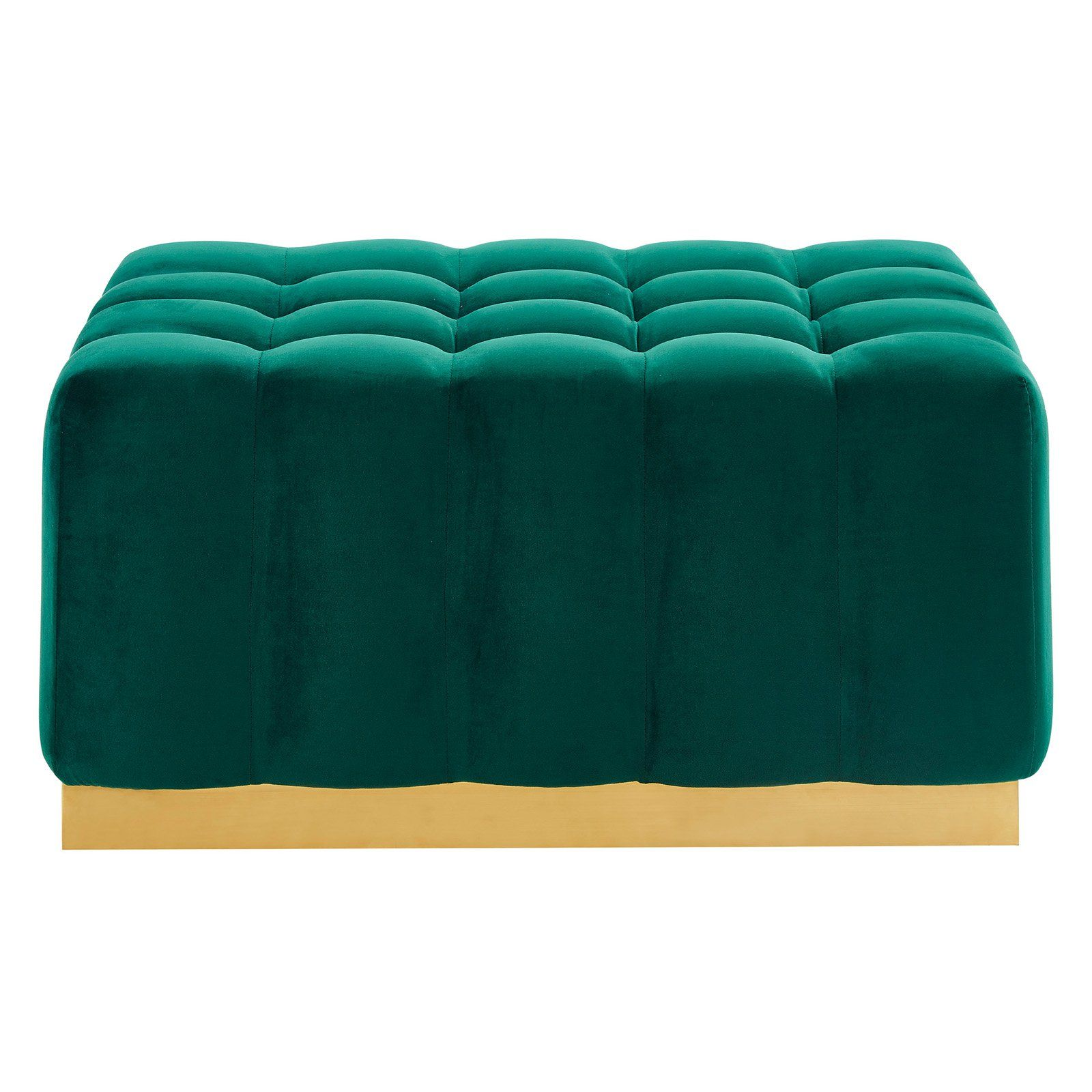 Tremendous Nspire Rectangular Velvet Ottoman Green Gold Products In Squirreltailoven Fun Painted Chair Ideas Images Squirreltailovenorg