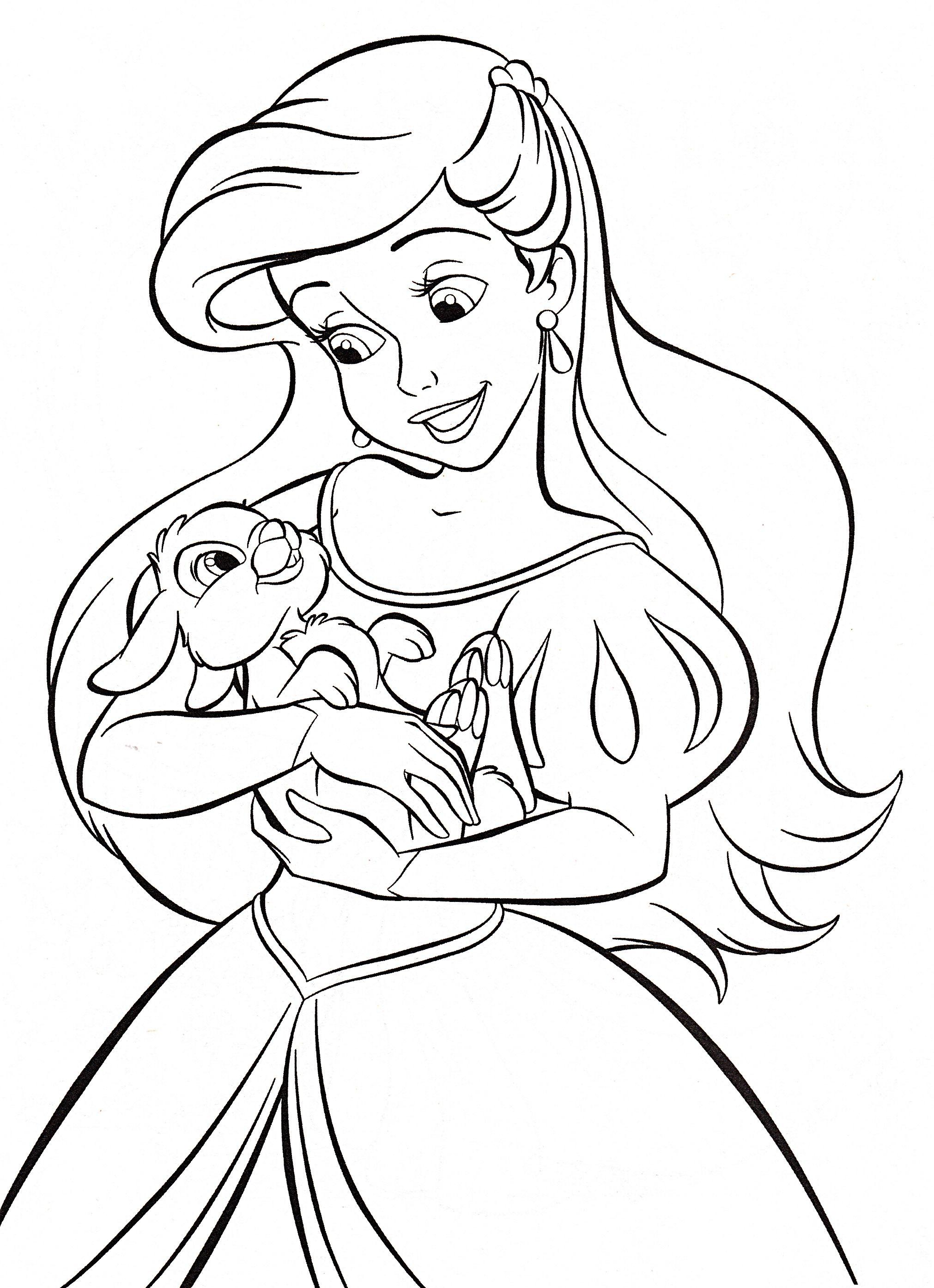 Walt Disney Coloring Pages Princess Ariel Walt Disney ...   ariel princess colouring pages to print