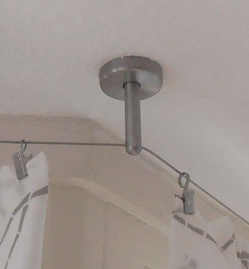 5m Vorhang Seilsystem Edelstahl Vorhangstange Beschattungsseil