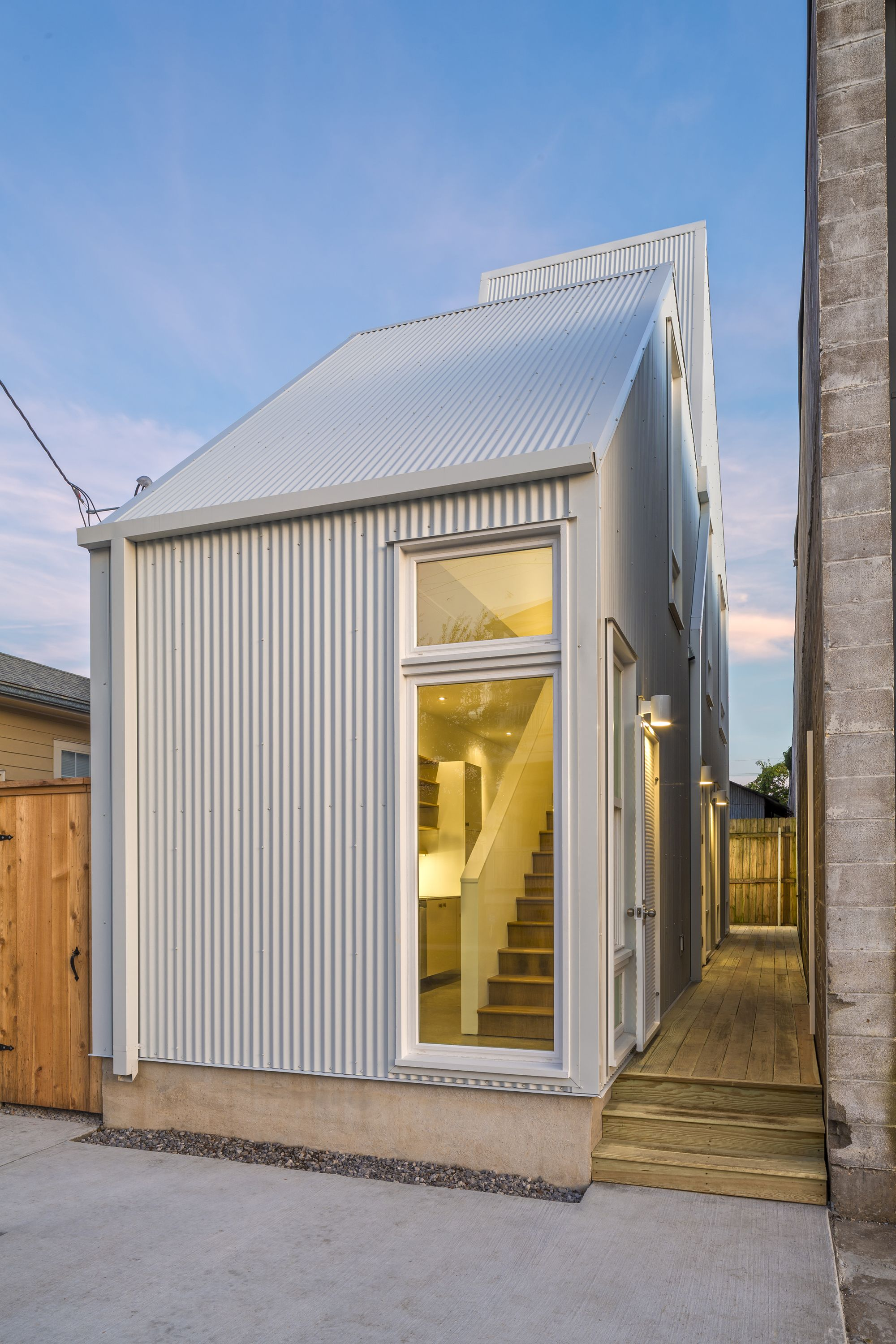 narrow house on small lot urban infill housing starter home in