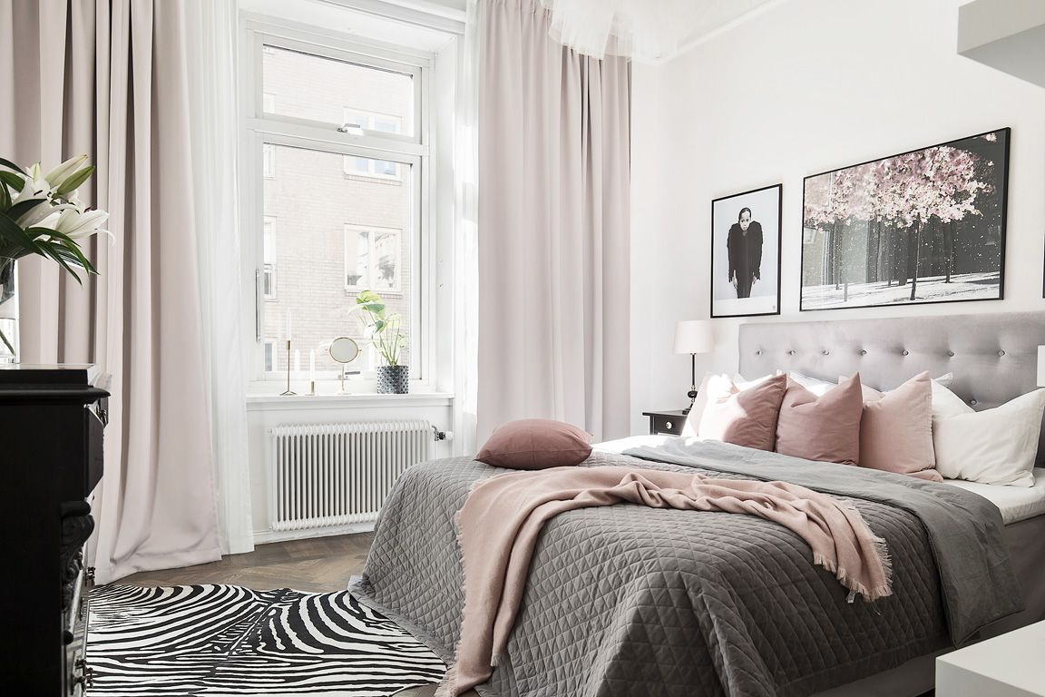 Our Bedroom Grey And Dusty Pink Pink Bedroom Decor Grey Bedroom Decor Pink Master Bedroom