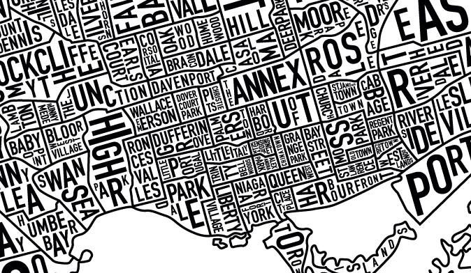 Cool map of Toronto Toronto Stuff Pinterest Toronto