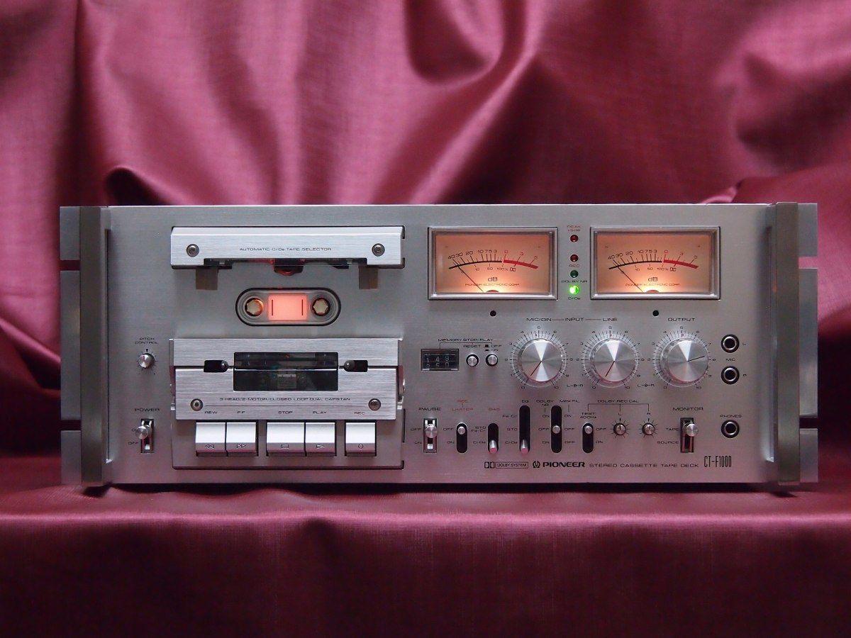 Pioneer Ct F1000 Tape Deck Vintage Https Www Pinterest Com
