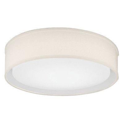 Lithonia Lighting Aberdale Flush Mount Shade Color: Tan, Bulb Color Temperature: 3000K