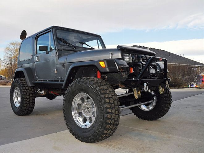 0808 4wd 01 Z Jeep Wrangler Yj Dana 44 Axle Front Right View